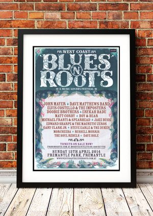John Mayer / Elvis Costello / Doobie Brothers 'Western Australia Blues And Roots Festival' – Australia 2014