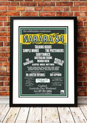 Talking Heads / Simple Minds / Pretenders 'Narara Festival' – Narara Australia 1984