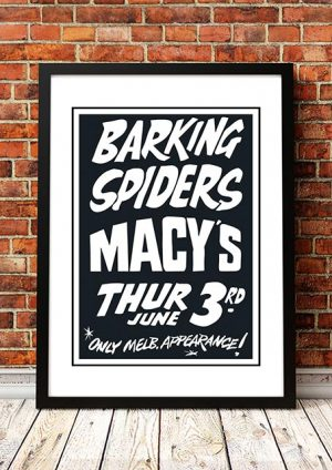 Barking Spiders (Cold Chisel) 'Macys' Melbourne, Australia 1982
