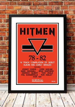 Hitmen '1979 – 1982' – In Store Poster Australia 1988