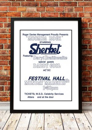 Sherbet / Daddy Cool / AC/DC 'Moomba Rock' Festival Hall Melbourne, Australia 1975