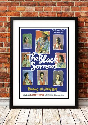 Black Sorrows 'Harley And Rose' – In Store Poster Australia 1990