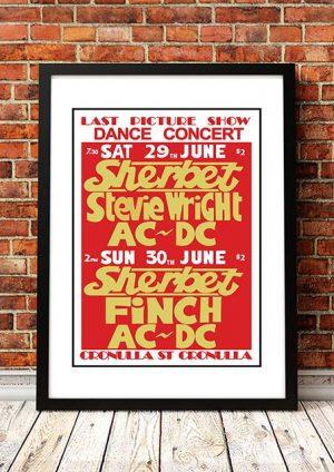 AC/DC / Sherbet / Finch / Stevie Wright 'Last Picture Show' Sydney, Australia 1974