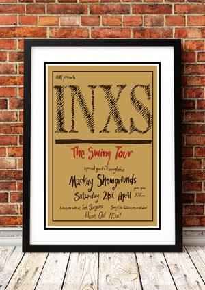 INXS 'The Swing Tour' Mackay, Australia 1984
