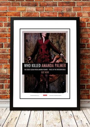 Amanda Palmer (Dresden Dolls) 'Who Killed Amanda Palmer' In Store Poster 2008