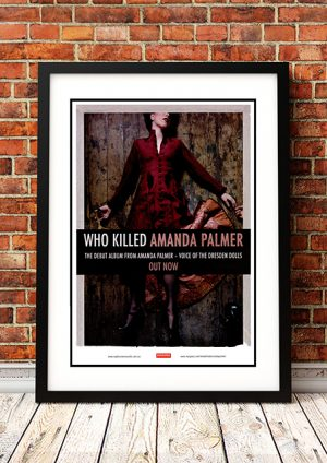 Amanda Palmer (Dresden Dolls) 'Who Killed Amanda Palmer' – In Store Poster Australia 2008