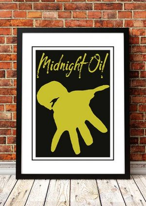 Midnight Oil 'Hand' In Store Poster 1992