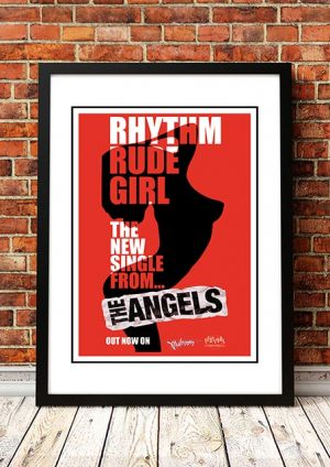 Angels (Angel City) 'Rhythm Rude Girl' In Store Poster 1990