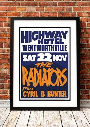 Radiators / Cyril B Bunter 'Highway Hotel' – Sydney Australia 1980