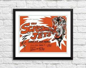 Screaming Jets 'Debut EP' – In Store Poster Australia 1990