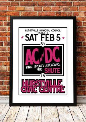 AC/DC 'Hurstville Civic Centre' Sydney, Australia 1977