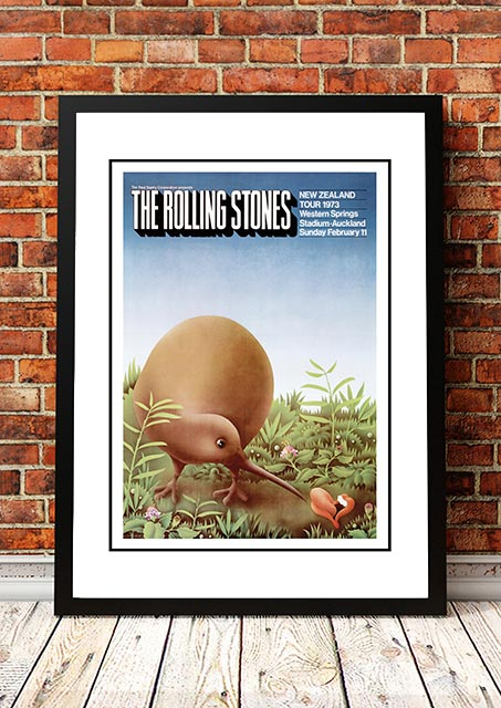 The Rolling Stones NZ Tour 'Limited Edition' Ian McCausland Print 1973