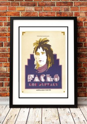 Rod Stewart & Faces 1974 – 'Limited Edition' Ian McCausland Print