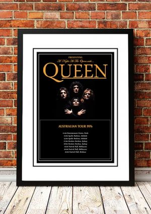 Queen 'A Night At The Opera' Australian Tour 1976