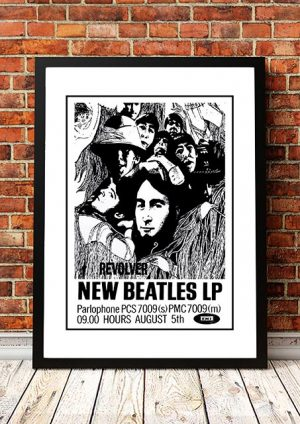 The Beatles 'Revolver' In Store Poster UK 1966