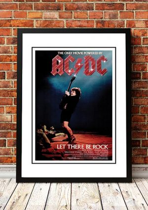 AC/DC 'Let There Be Rock' Movie Poster 1980