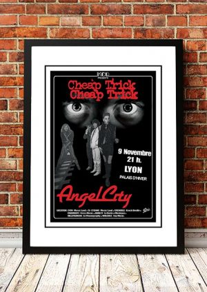 Cheap Trick / Angel City (The Angels) 'European Tour' Poster 1980