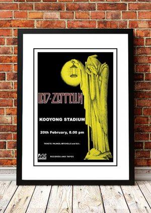 Led Zeppelin 'Kooyong Stadium' Melbourne, Australia 1972