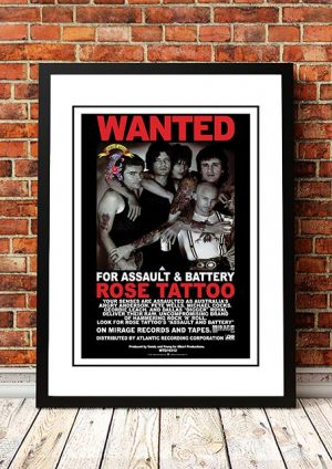 Rose Tattoo 'Assault And Battery' In Store Poster 1981