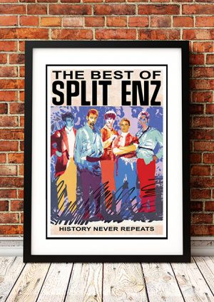 Split Enz – 'History Never Repeats' In Store Poster 1987