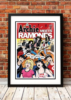 Archie Meets Ramones 'Hey Ho Lets Go' – Comic Book Poster