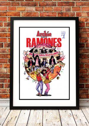 Archie Meets Ramones 'Gabba Gabba Hey' – Comic Book Poster