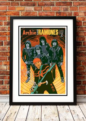 Archie Meets Ramones 'Guitar' – Comic Book Poster