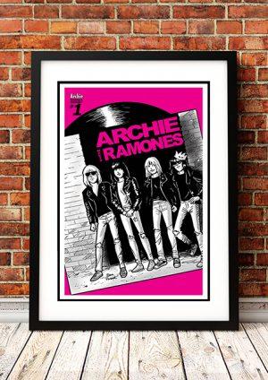 Archie Meets Ramones 'Pink' – Comic Book Poster
