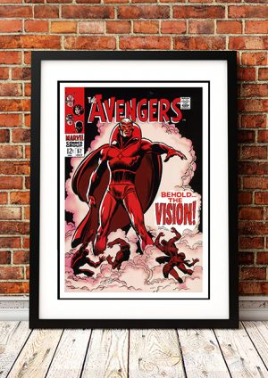 Avengers 'Behold The Vision' – Comic Book Poster