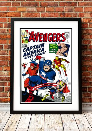 Captain America 'Lives Again' – Comic Book Poster