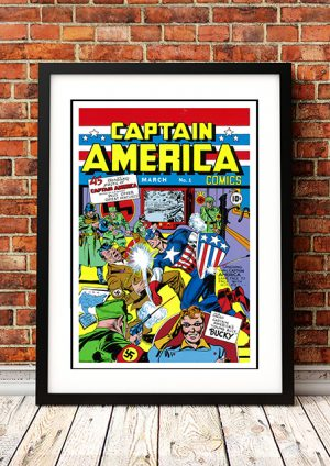 Captain America 'March' – Comic Book Poster
