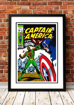 Captain America 'The Falcon' – Comic Book Poster