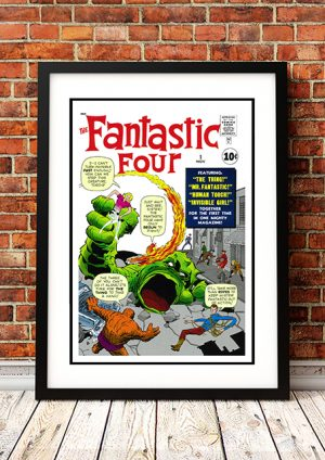 Fantastic Four 'The Thing' – Comic Book Poster
