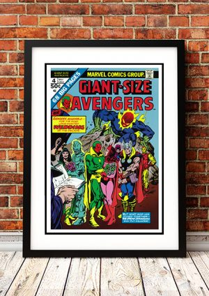 Giant Size Avengers – Comic Book Poster