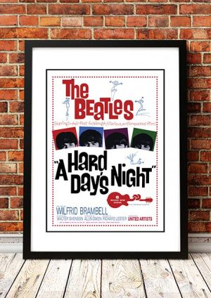 The Beatles 'Hard Day's Night' Movie Poster 1964