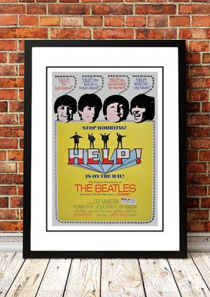 The Beatles 'Help' Movie Poster 1965