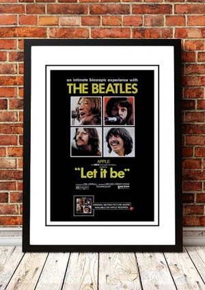 The Beatles 'Let It Be' Movie Poster 1970
