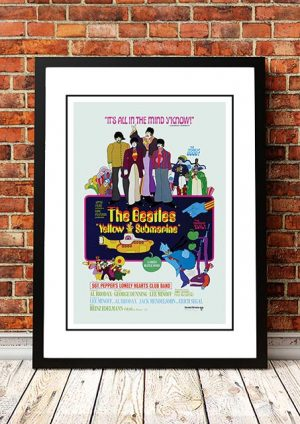 The Beatles 'Yellow Submarine' Movie Poster 1968