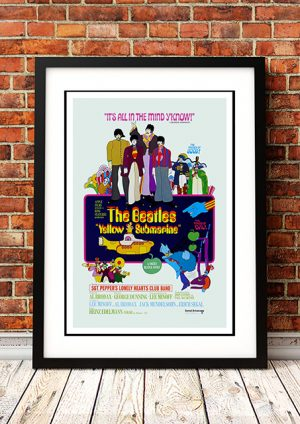 Beatles – 'Yellow Submarine' Movie Poster 1968