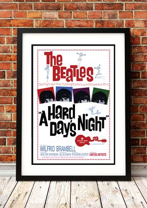 Beatles – 'Hard Day's Night' Movie Poster 1964