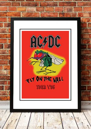 AC/DC 'Fly On The Wall' Tour Poster 1985
