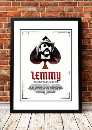 Motorhead 'Lemmy' Movie Poster 2010