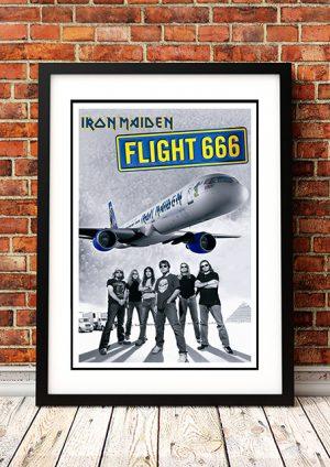 Iron Maiden 'Flight 666' Movie Poster 2009