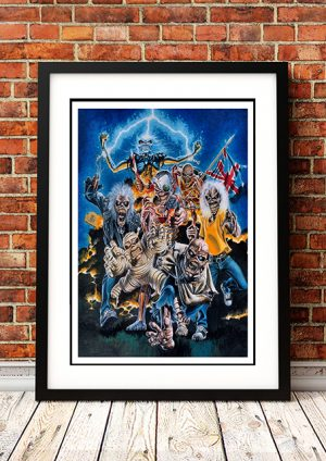 Iron Maiden 'Montage' In Store Poster