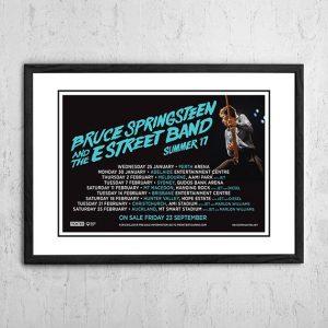 Bruce Springsteen 'Australian Tour' Poster 2017