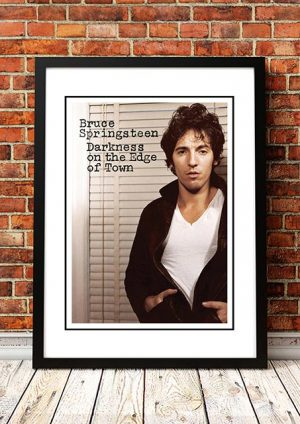 Bruce Springsteen 'Darkness On The Edge Of Town' In Store Poster 1978