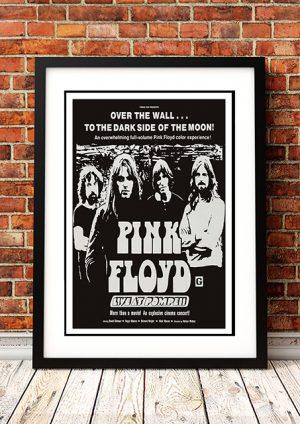 Pink Floyd – 'Live At Pompeii' Movie Poster 1972