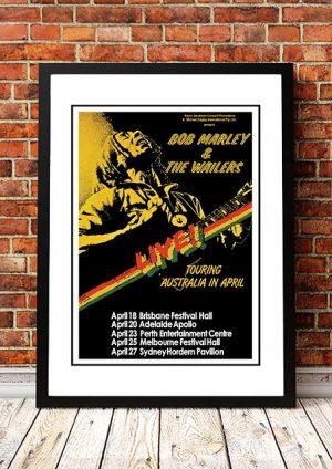 Bob Marley 'Australian Tour' Poster 1979