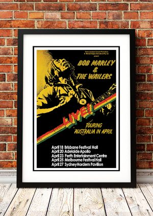 Bob Marley – 'Australian Tour' Poster 1979
