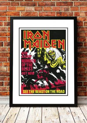 Iron Maiden 'Number Of The Beast' Australian Tour Poster 1983